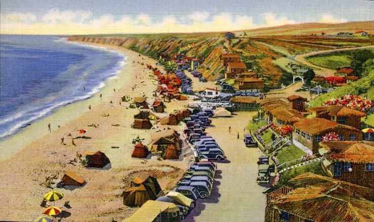 Crystal Cove Vintage Postcard