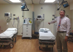 West Sonoma County Medical Center CEO Ray Hino shows off the facility's remodeled emergency room.